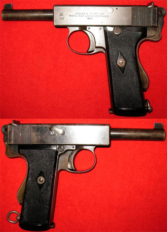 Пистолет Webley & Scott Model 1912 / 1913 Mark I Navy / 1915 Mark I № 2